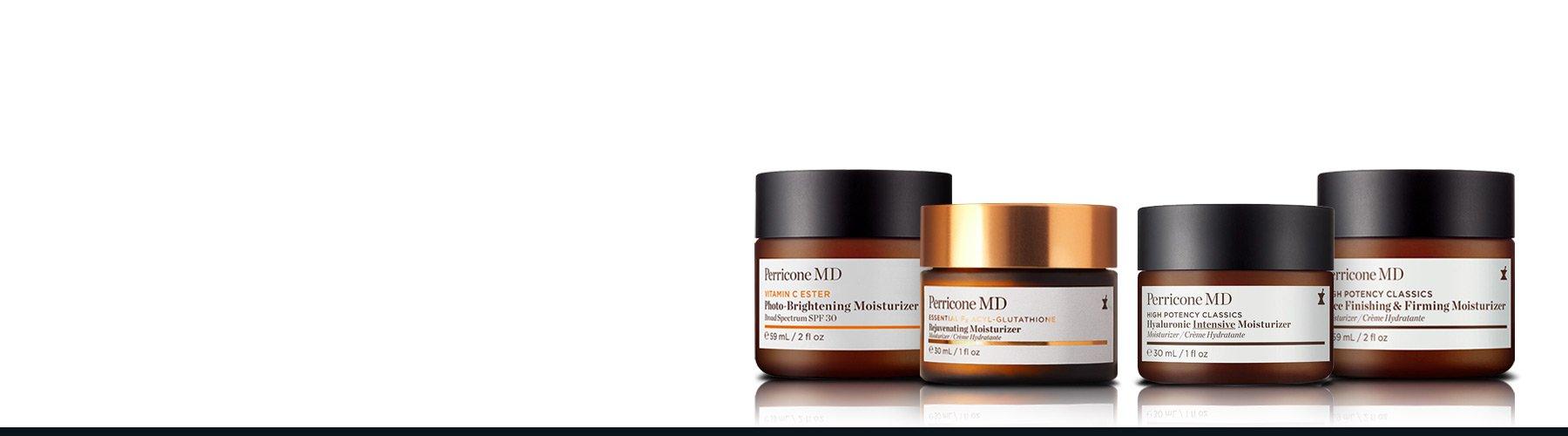 Unsere pflegenden und hydratisierenden Gesichtsfeuchtigkeitscremes sind formuliert, um Feuchtigkeit, Festigkeit und Glätte für eine strahlend aussehende Haut sichtbar wiederzuherstellen.
