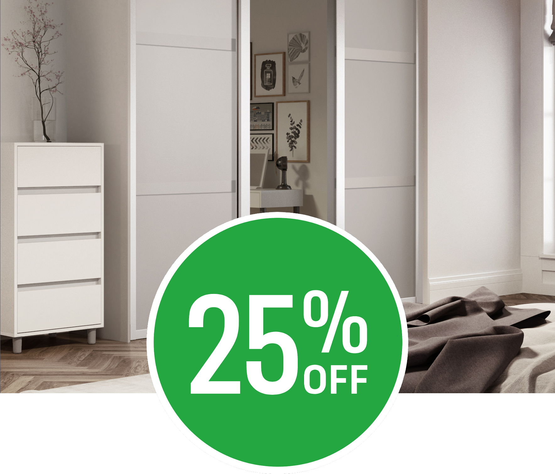 Get 25% off on our Sliding Doors Range