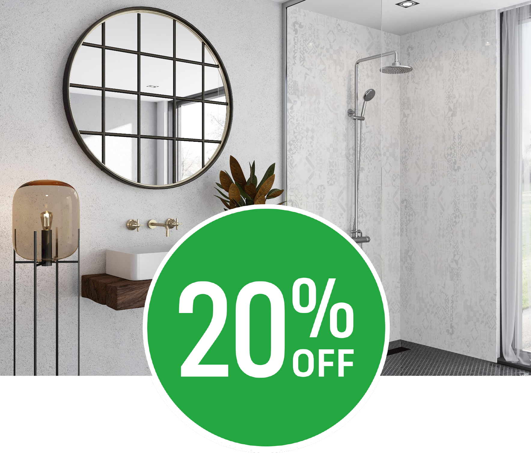 Get 20% off on all Wetwall Panels Products