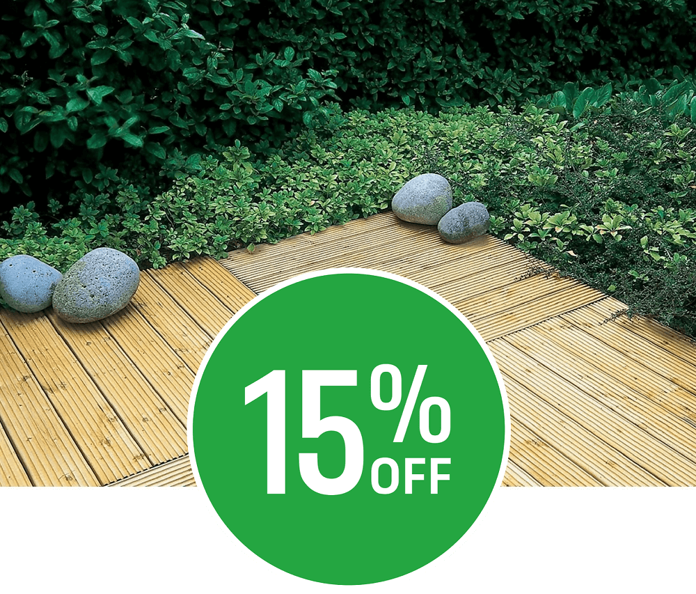 15% off Forest Decking