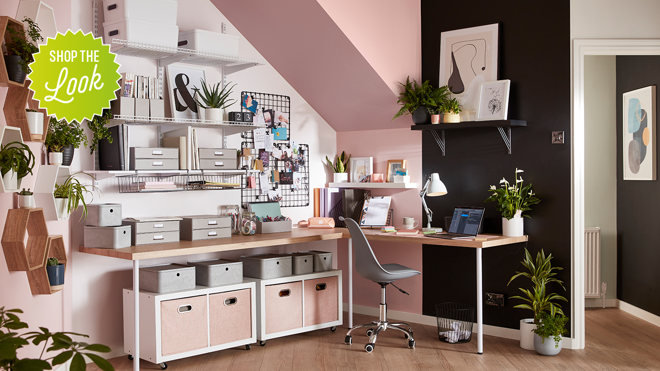 Shop the look. 10% off. Under Stairs Office - desktop.