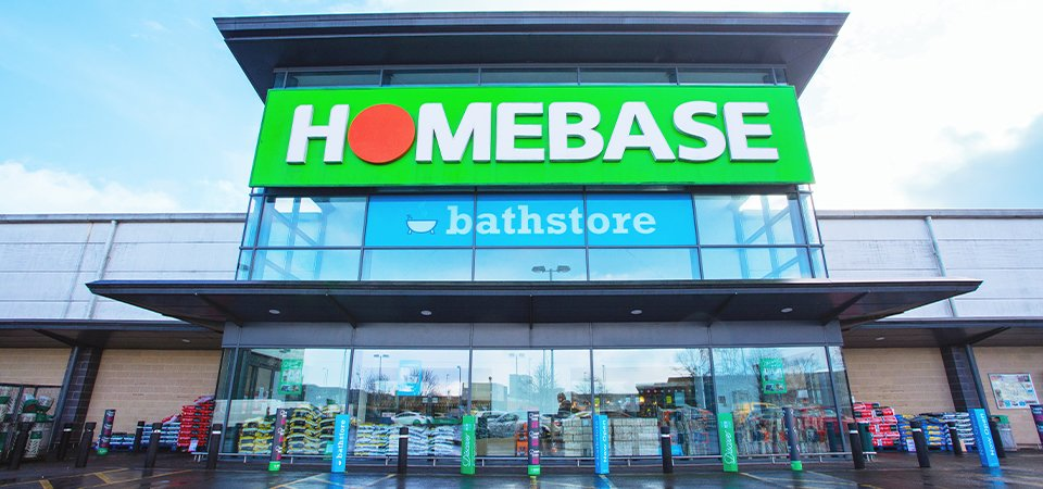 Front of a Homebase store