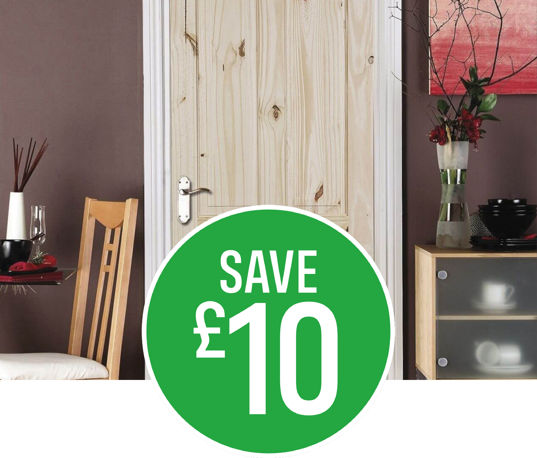 Save £10 on London 4 Panel Knotty Pine Internal Door - 762mm Wide