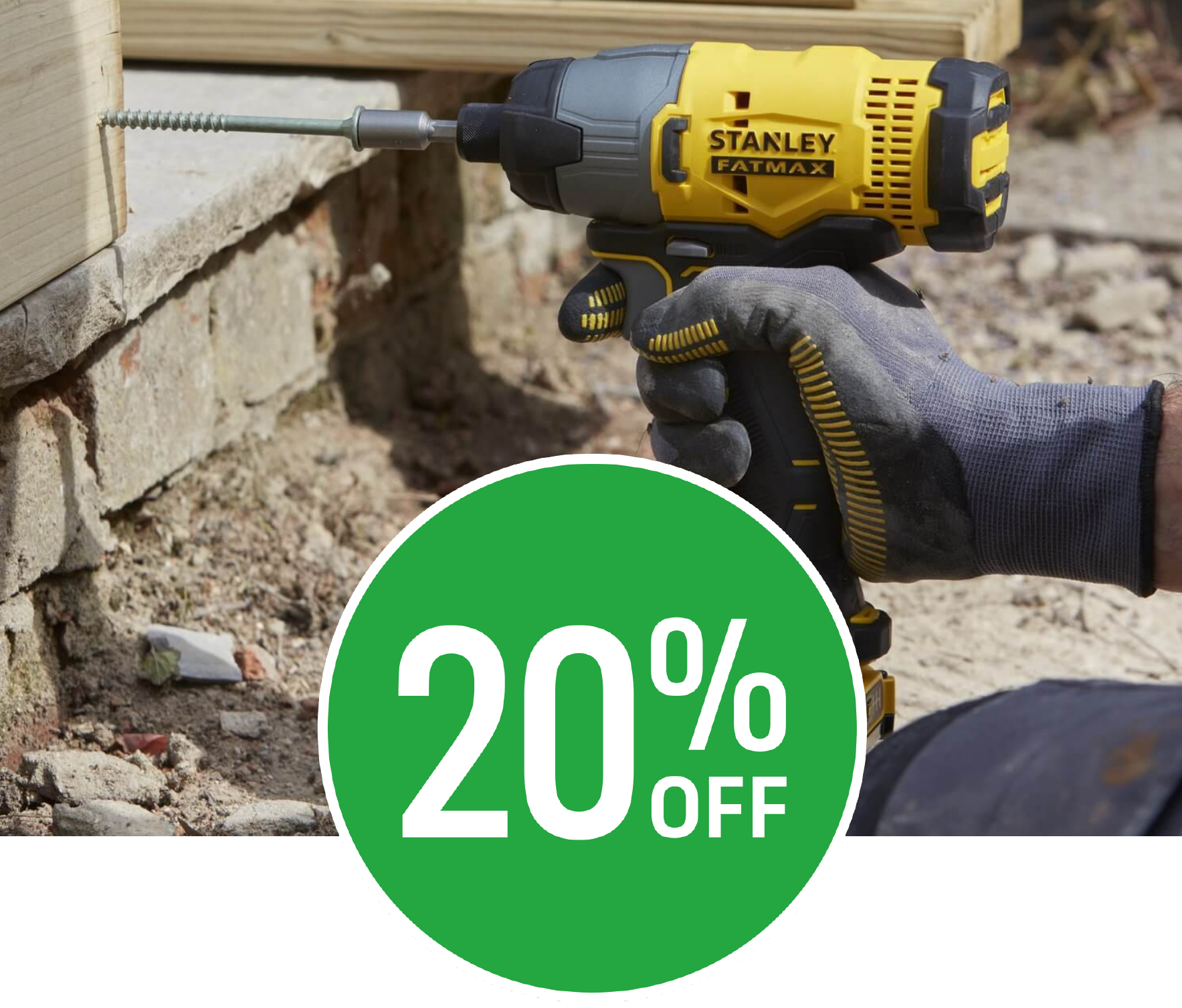 Get 20% off selected Stanley FatMax Power Tools