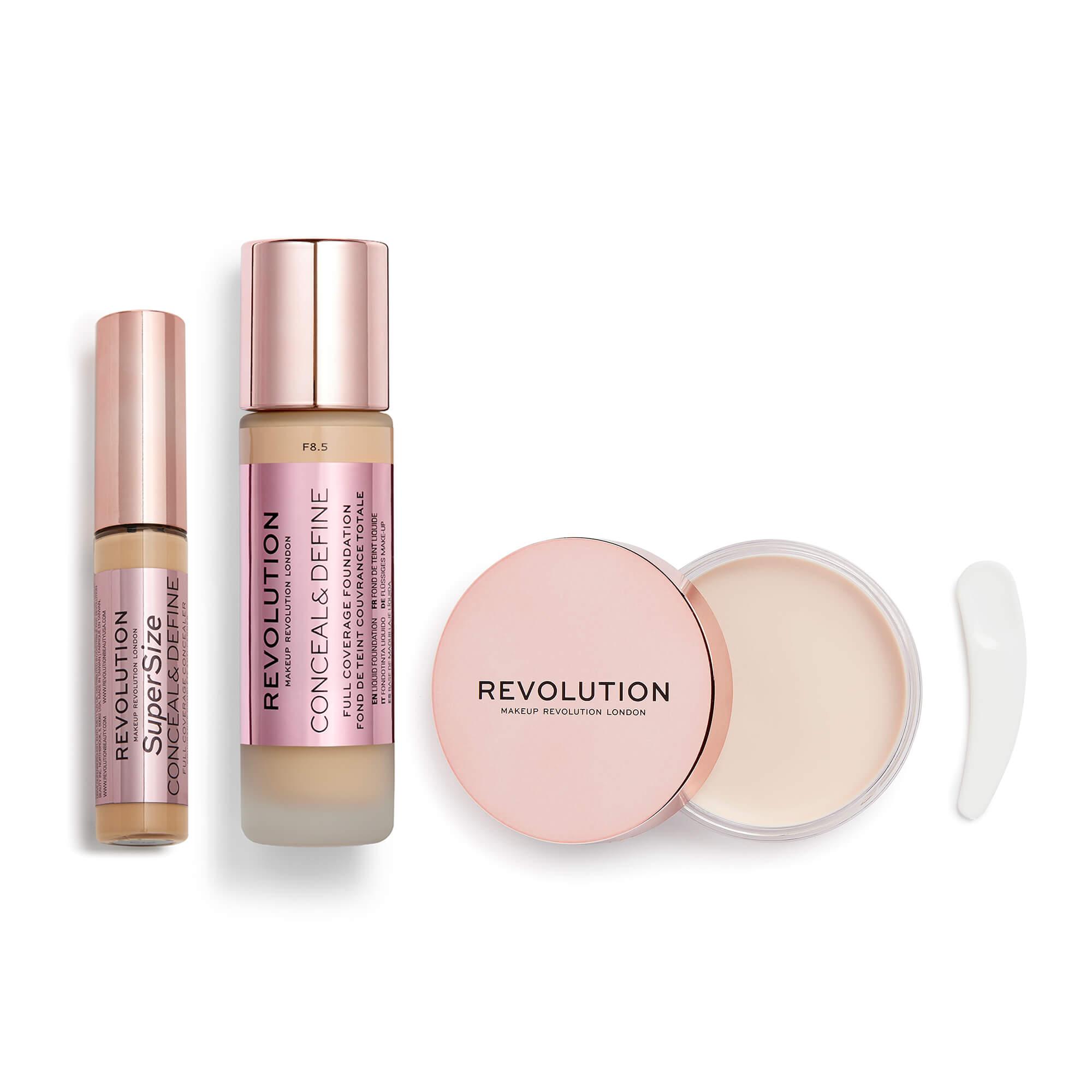 Build your own bundle including a Revolution Beauty foundation, concealer & primer