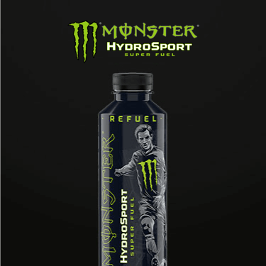 A bottle of Monster HydroSport