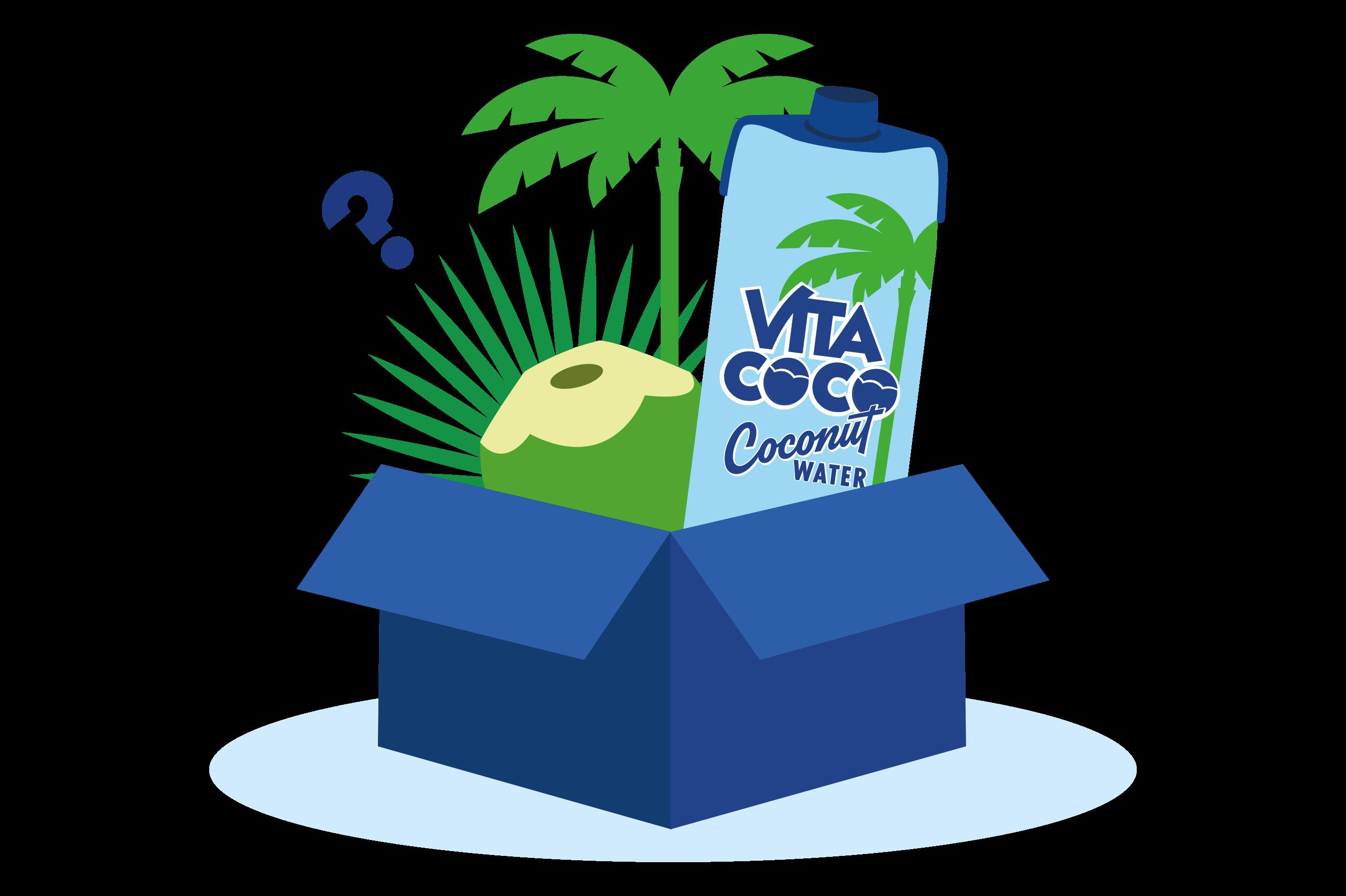 Box with Vita Coco Products