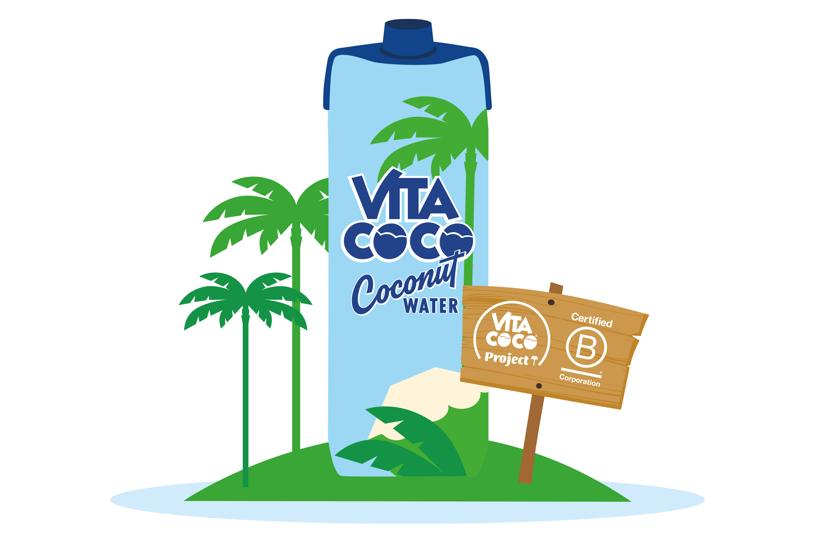 Sign for B Certified and Vita Coco Project