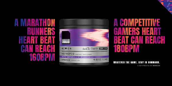A marathon runner's heart beat can reach 160BPM. A competitive gamer's heart beat can reach 180BPM. Whatever the Game. Stay in Command.