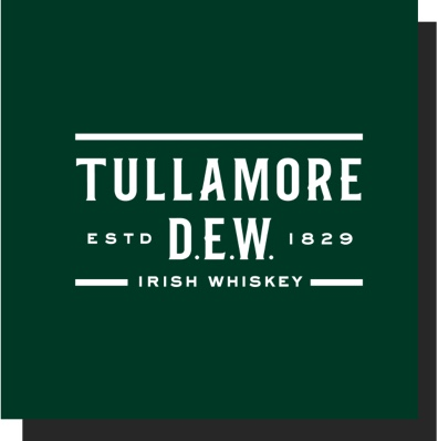 Tullamore D.E.W. Irish whiskey. ESTD 1829.
