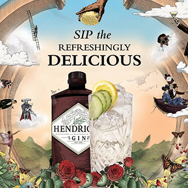 Sip the refreshingly delicious Hendrick's Gin