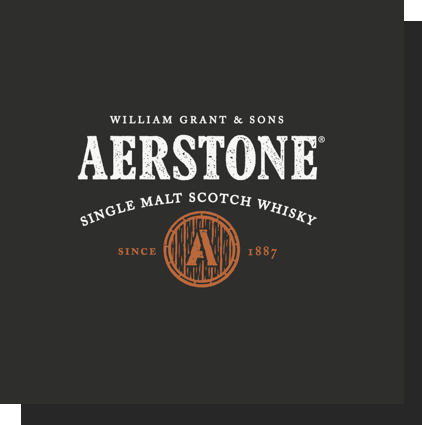 William Grant and sons Aerstone  single malt scotch whisky since 1887