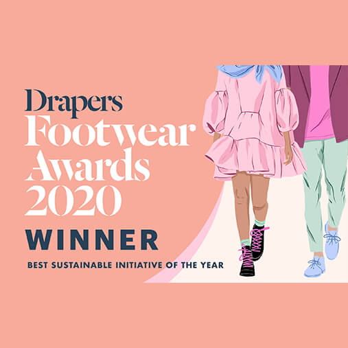 Drapers footwear awards 2020 winner - best sustainable of the year