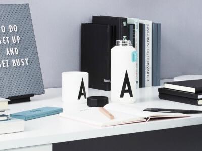Design Letters Bottles & Cups