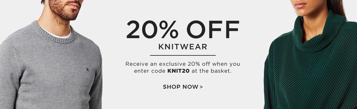 20% off Knitwear
