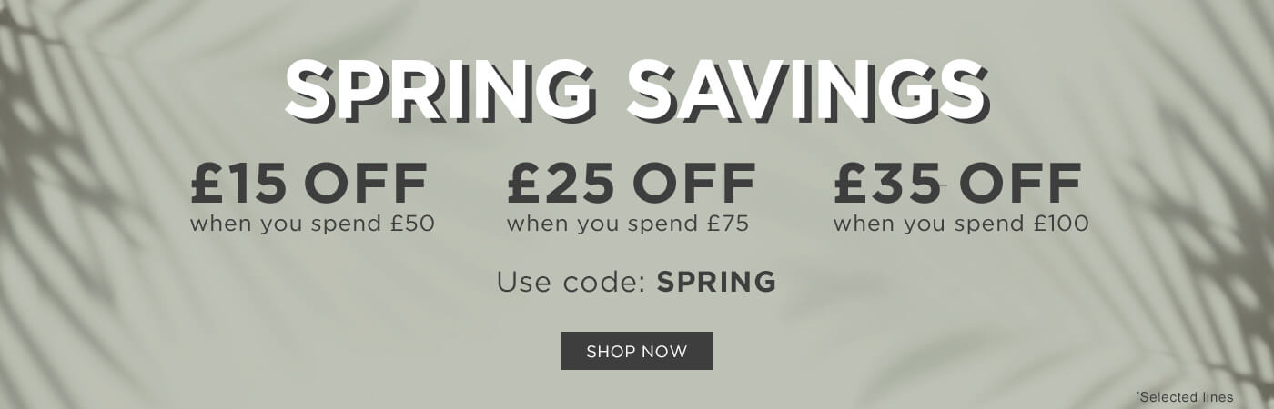 Easter Spend & Save: Use code SPRING