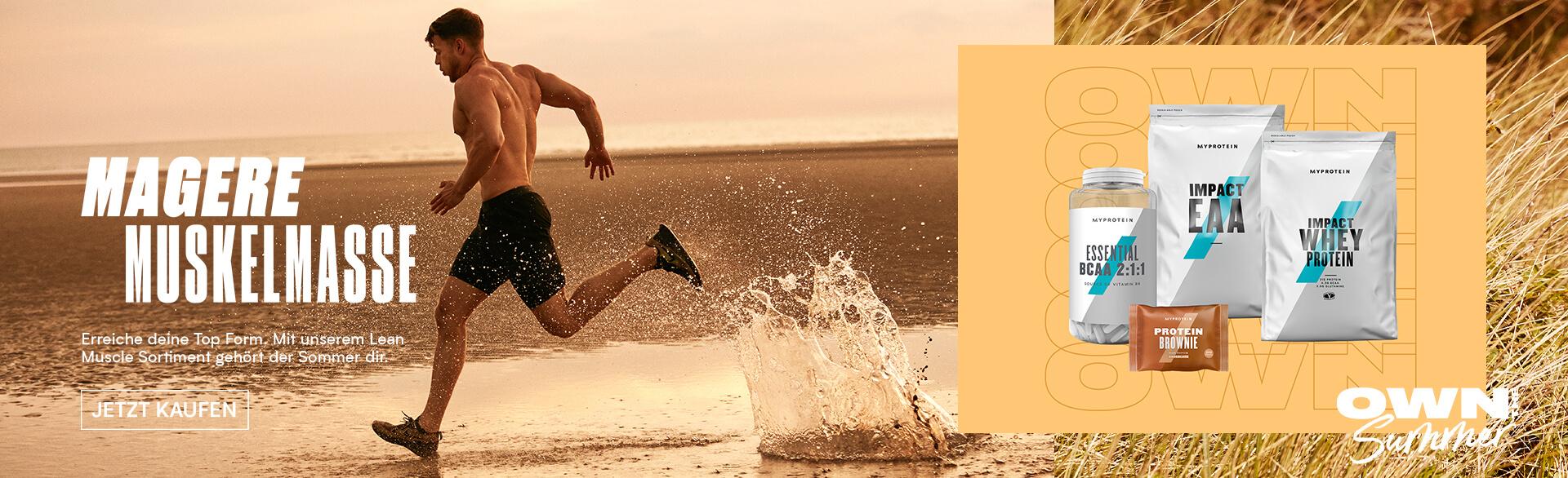 Myprotein Summer goals - lean muscle banner
