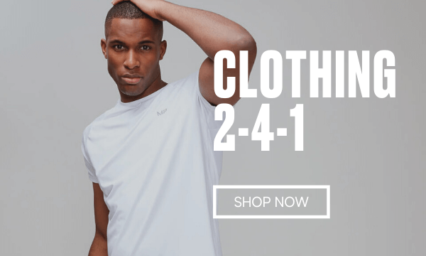 2-4-1 on selected Apparel.