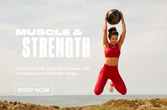 Myprotein Summer goals- muscle & strength banner