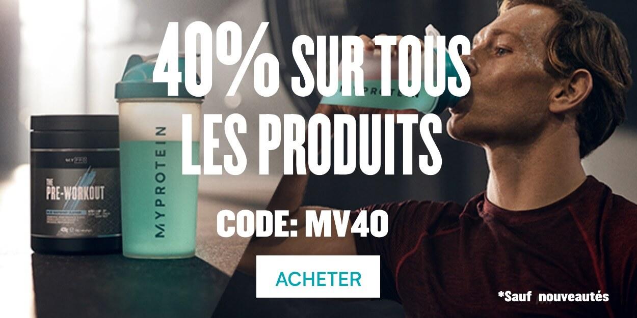40% sur tous les produits