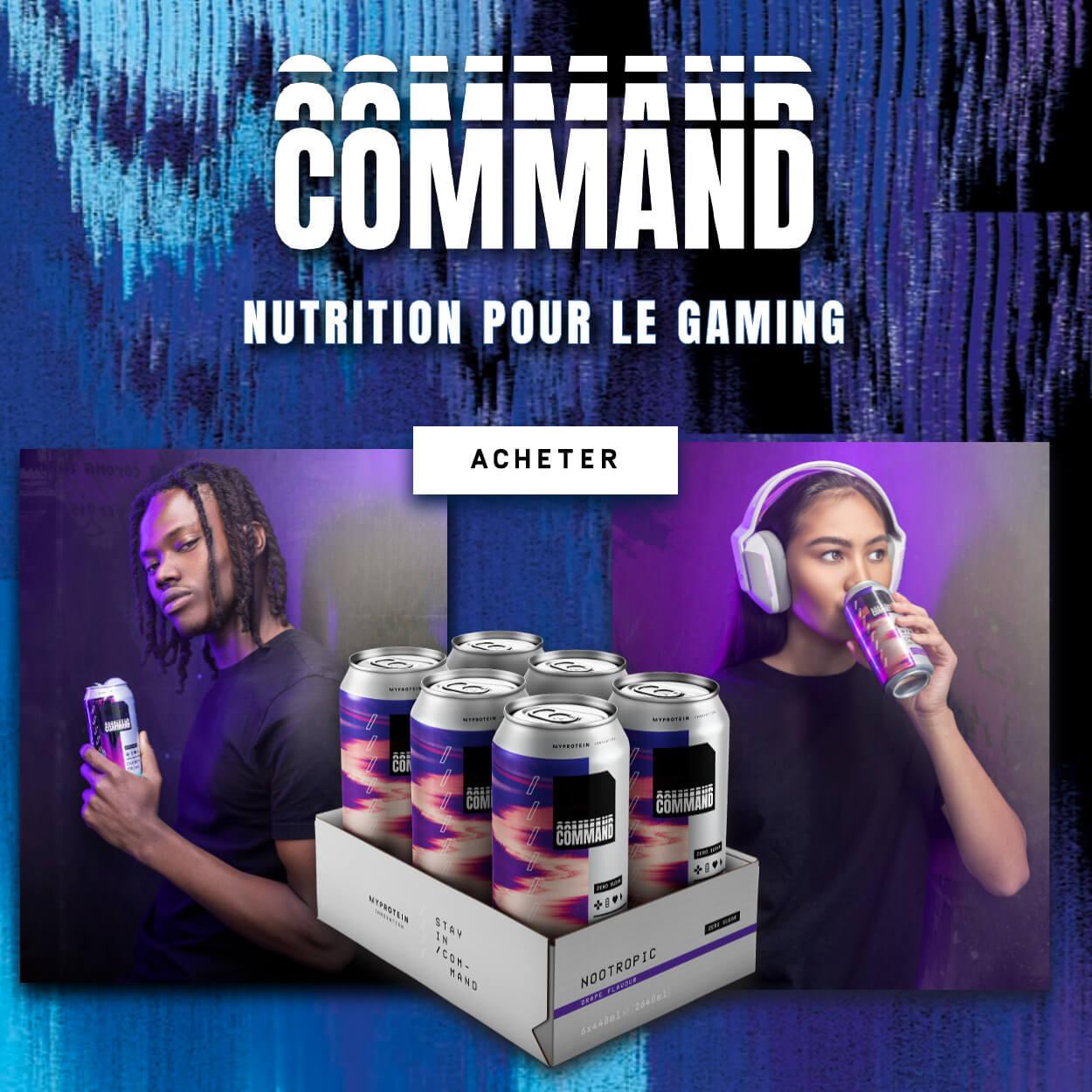 COMMAND. Nutrition pour le gaming. Acheter.
