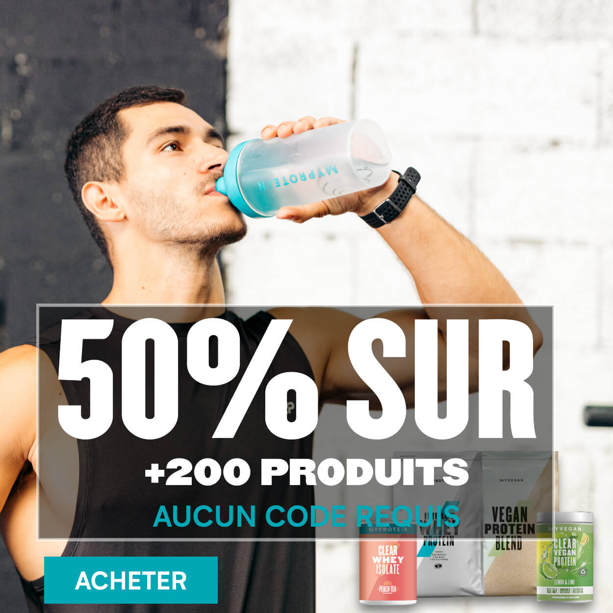 50% sur +200 produits