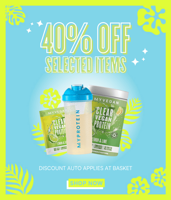 40% off selected items