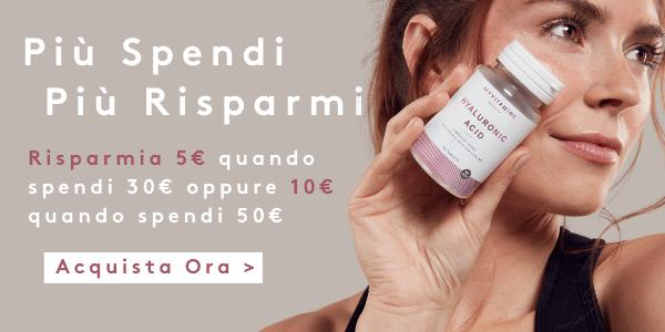 Risparmia 5€ su una spesa di 30€ oppure 10€ su una spesa di 50€ | Myvitamins