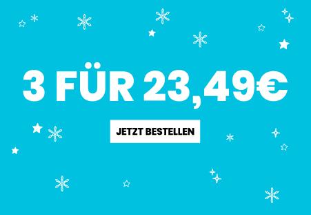 3 für 23,49 Geschenke