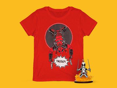 Deadpool Figur & T-Shirt nur 10.50€