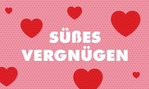 Pralinen und Süßigkeiten zum Valentinstag