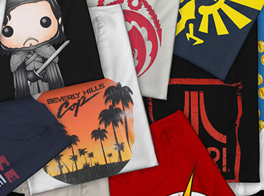 2 FRANCHISE T-SHIRTS FOR 29 €