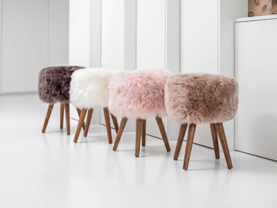 Sheepskin Stool and Rug - Only £94.99
