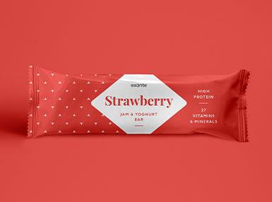 Erdbeermarmelade & Joghurt Riegel