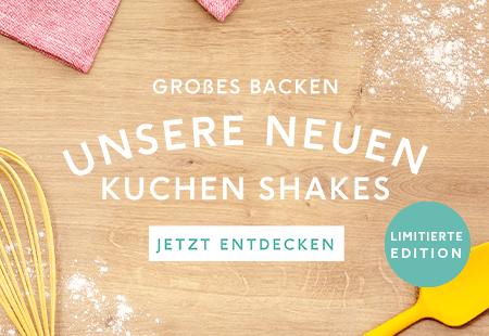 neue Shakes - Banane Karamell, Erdbeer Sahne und Karamell Keks