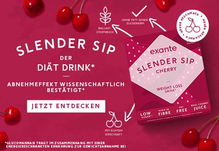 Slender Sip ist ein Diät Drink*, das Ihnen wissenschaftlich erwiesen dabei hilft, Gewicht zu verlieren - *Glucomannan im Inhalt einer energiereduzierten Diät trug zum Gewichtsverlust bei.