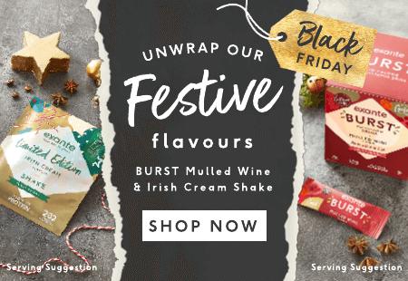 UnWrap Our Festive Flavours BURST Mulled Wine & Irish Cream Shake