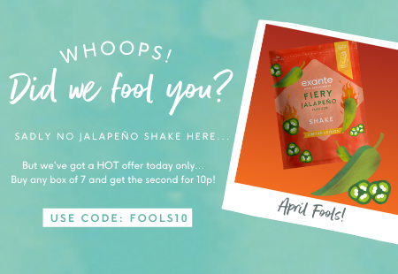 Whoops did we fool you? Sadly no jalapeno shake here 'but we've got a hot offer today only... Buy any box of 7 and get the second for 10p