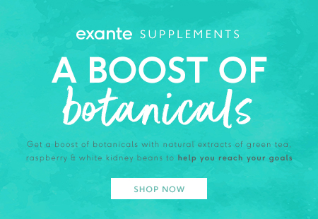 exante supplements, a boost of botanicals 'shop now'