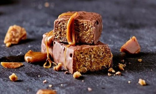 A image of our chocolate caramel crunch bar