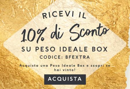 10% di Sconto su Peso Ideale Box! Trova i1 dei 5 Golden Ticket e ricevi una Peso Ideale Box Premium GRATIS