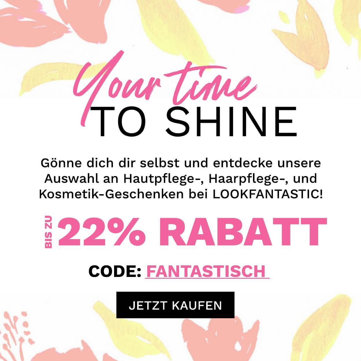 Spare bis zu 22%! Code: FANTASTISCH