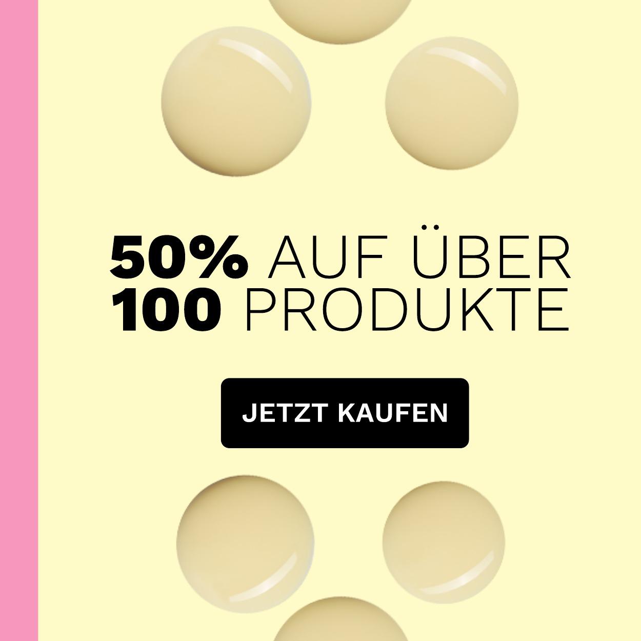 Spare 50% auf  über 100 Produkte!