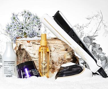 L'Oréal Professionnel hårplejeprodukter i sneen
