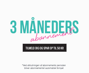tekst: 3 måneders abonnement for Beauty Box
