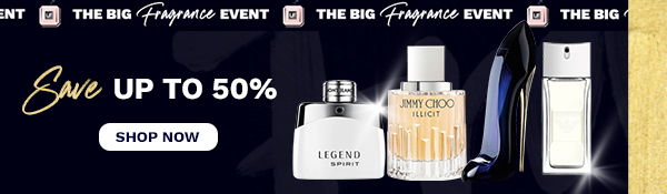 save up to 50% on fragrance
