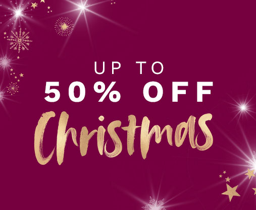up to 50% off Christmas