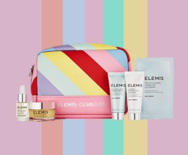 Receive a complimentary Elemis Limited Edition Olivia Rubin National Gift Set when you spend HK$800 on the brand.