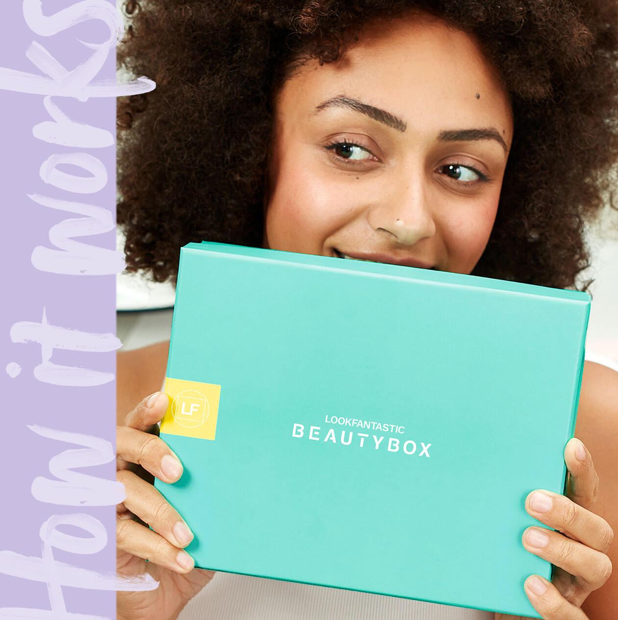 Lees meer over de lookfantastic Beauty Box, een maandelijks abonnement dat 6 samengestelde schoonheidsproducten ter waarde van meer dan € 55 levert aan een wereldwijde gemeenschap van abonnees. Ontdek een abonnement dat bij u past vanuit onze abonnementen van 1, 3, 6 of 12 maanden.