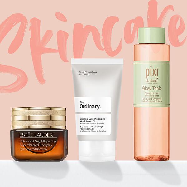 Descobre a tua nova rotina de skincare com as melhores marcas de cuidados de pele, tais como <b>Estée Lauder, Pixi </b> e <b>The Ordinary </b>